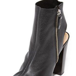 Wild diva black peep toe bootie with zipper